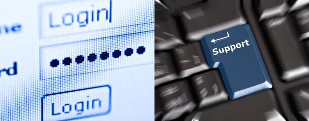 login and click